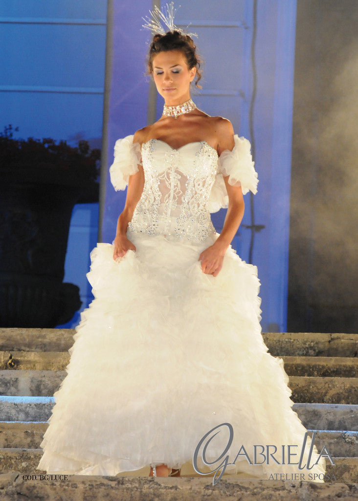 Haute Couture Atelier GABRIELLA Custom Made Italian Wedding Dress BG/Luce