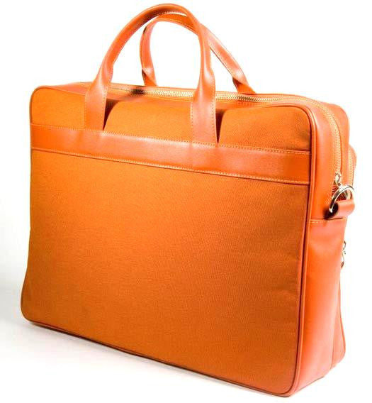 Stylish Briefcase ref. 020 (mixed of leather and durable fabric)