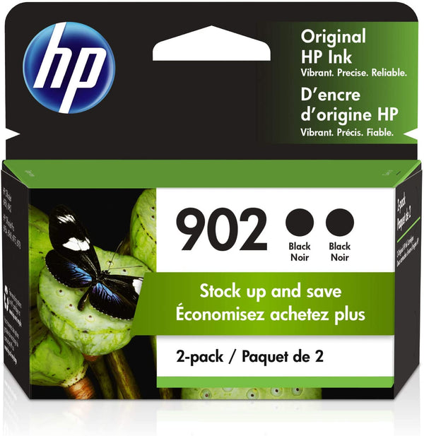 HP® – Cartouches d'encre 902 noire rendement standard paq./2 (3YN96AN) - S.O.S Cartouches inc.