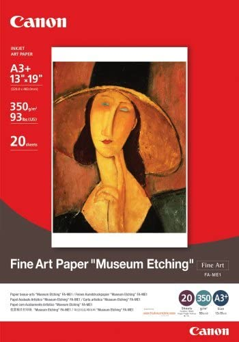Canon FA-ME1, 13 x 13 x 48 cm, A3 + size, Fine Art Museum Etching photo paper, 20 sheets/package