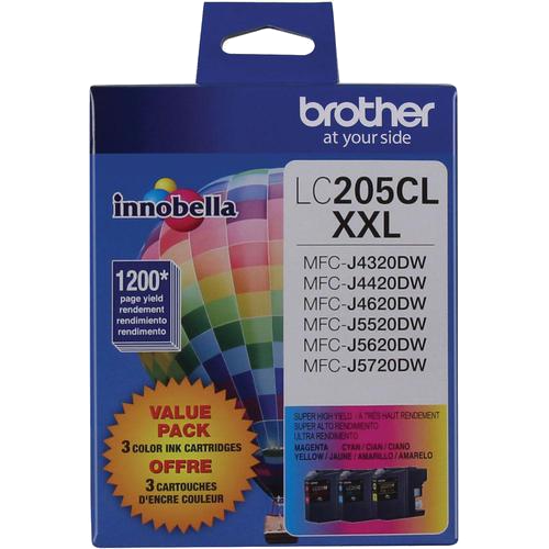 Brother® – Cartouches d'encre trois couleurs LC-205, paq./3 (LC2053PKS) - S.O.S Cartouches inc.