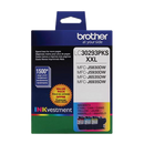Brother® – Cartouches d'encre trois couleurs LC-3029, paq./3 (LC30293PKS) - S.O.S Cartouches inc.