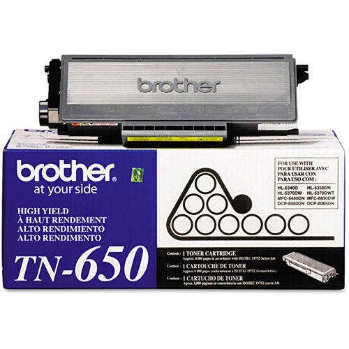 Brother® - TN-650 Black High Yield Toner Cartridge (TN650)