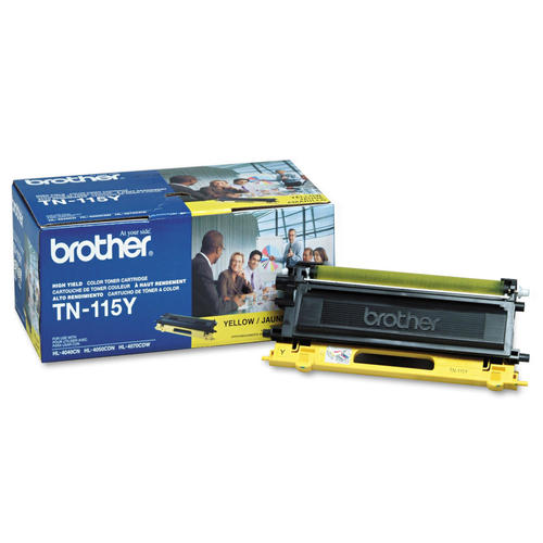 Brother® – Cartouche de toner TN-115 jaune rendement élevé (TN115Y)