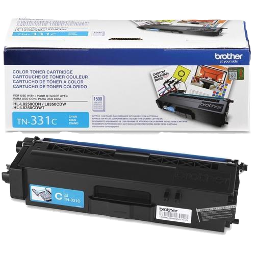 Brother® – Cartouche de toner TN-331 cyan rendement standard (TN331C) - S.O.S Cartouches inc.