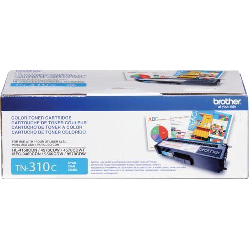 Brother® – Cartouche de toner TN-310 cyan rendement standard (TN310C) - S.O.S Cartouches inc.