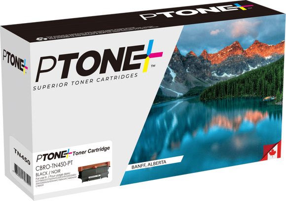 Brother TN450 cartouche toner noire version à haut rendement de TN420 produit ptone® compatible avec brother-1/paquet.1 - S.O.S Cartouches inc.
