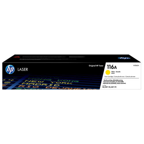 HP® – Cartouche Toner LaserJet 116A jaune rendement standard (W2062A) - S.O.S Cartouches inc.