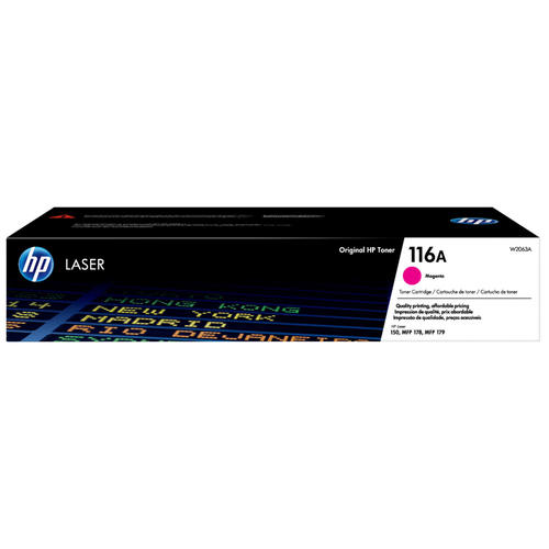 HP® – Cartouche Toner LaserJet 116A magenta rendement standard (W2063A) - S.O.S Cartouches inc.