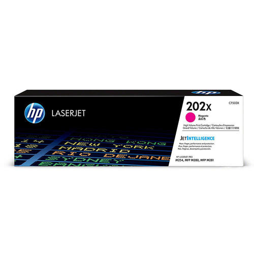 HP202X CF503X cartouche toner magenta version à haut rendement de 202A CF500A produit originale HP-1/paquet. - S.O.S Cartouches inc.
