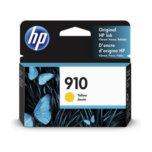 HP® – Cartouche d'encre 910 jaune rendement standard (3YL60AN) - S.O.S Cartouches inc.