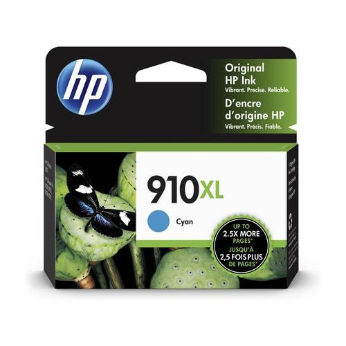 HP910XL 3YL62AN cartouche d'encre cyan version à haut rendement de HP 910 3YL58AN produit originale HP-1/paquet. - S.O.S Cartouches inc.