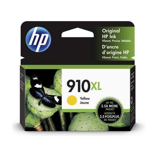 HP910XL 3YL64AN cartouche d'encre jaune version à haut rendement de HP 910 3YL60AN produit originale HP-1/paquet. - S.O.S Cartouches inc.