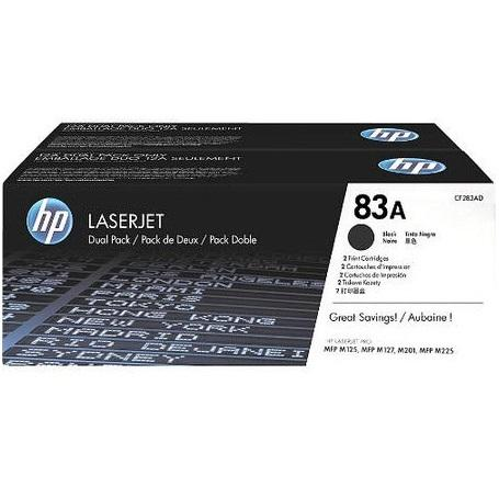 HP® – Cartouches Toner LaserJet noire 83A, paq.2 rendement standard (CF283AD) - S.O.S Cartouches inc.