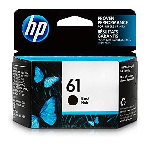 HP61 CH561WN Black Original Inkjet Cartridge Standard Yield