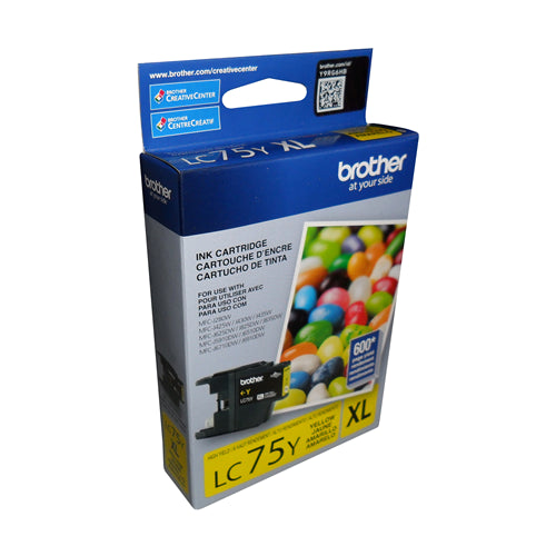 Brother® - LC75 Yellow High Yield Ink Cartridge (LC75YS)
