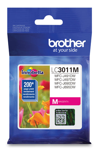 Brother® - LC-3011 Magenta Ink Cartridge Standard Yield (LC3011MS)