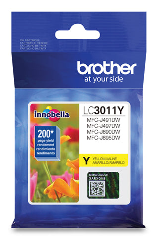 Brother® - LC-3011 Yellow Ink Cartridge Standard Yield (LC3011YS)