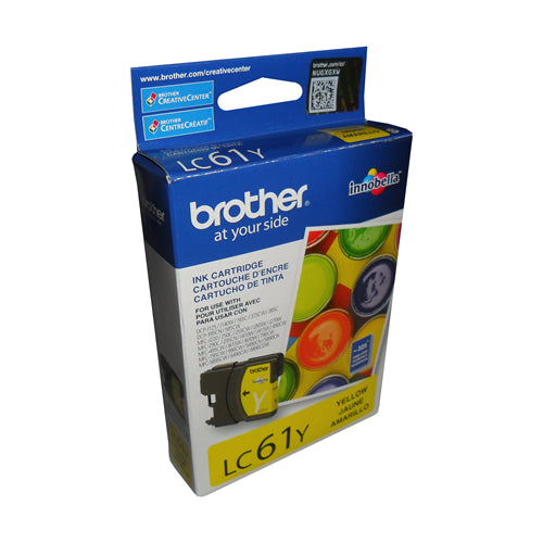 Brother® – Cartouche d'encre LC-61 jaune rendement stantard (LC61YS)