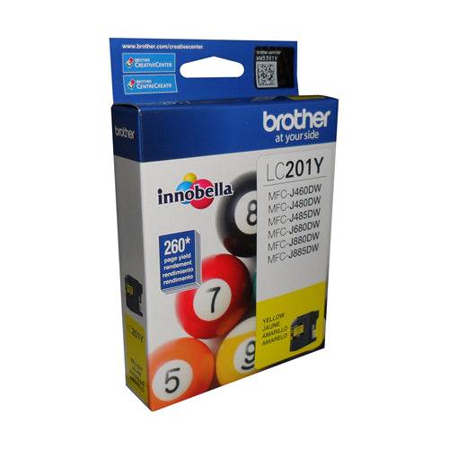 Brother® - LC-201 Yellow Ink Cartridge Standard Yield (LC201YS)