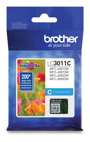 Brother® - LC-3011 Cyan Ink Cartridge Standard Yield (LC3011CS)