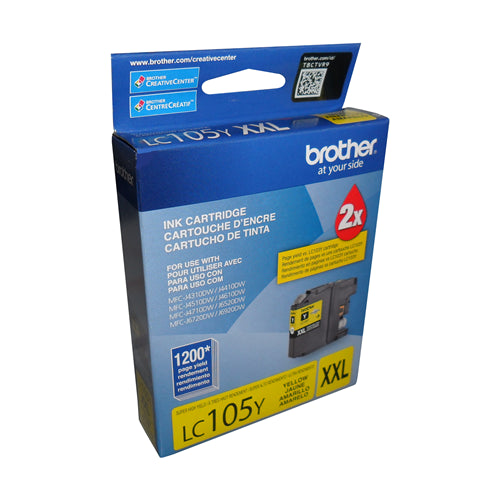 Brother® - LC-105 High Yield Yellow Ink Cartridge (LC105YS)