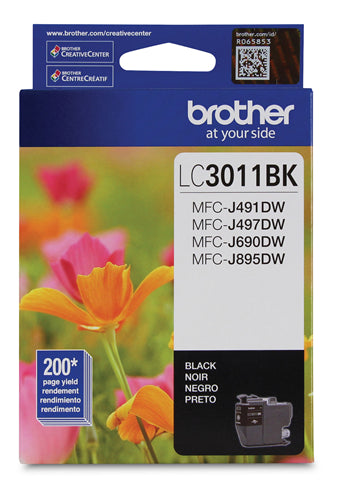 Brother® - LC-3011 Black Ink Cartridge Standard Yield (LC3011BKS)