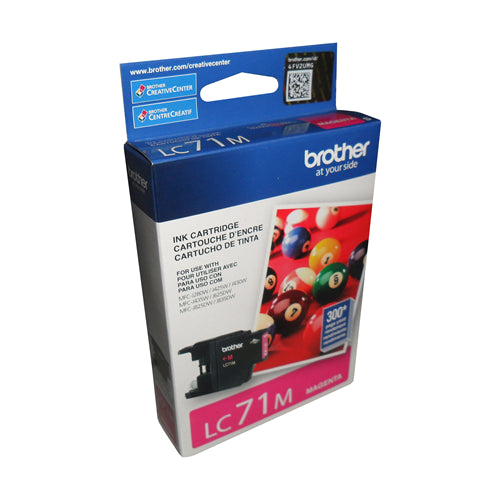 Brother® - LC-71 Magenta Ink Cartridge, Standard Yield (LC71MS)