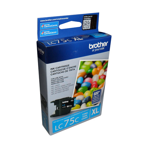Brother® - LC75 Cyan Ink Cartridge High Yield (LC75CS)