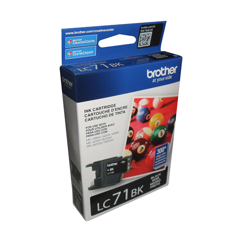 Brother® - LC-71 Black Ink Cartridge Standard Yield (LC71BKS)