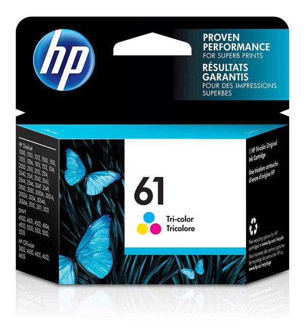HP61 CH562WN Three Colors Original Inkjet Cartridge Standard Yield