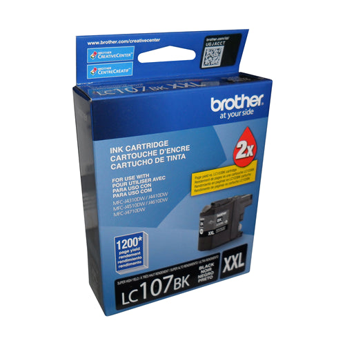 Brother® - LC107 Black Ultra High Yield Ink Cartridge (LC107BKS)