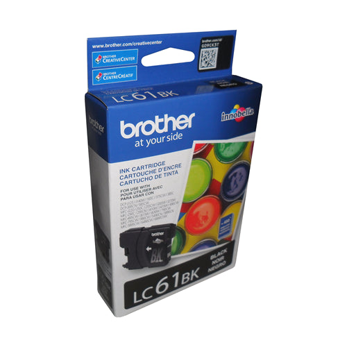 Brother® – Cartouche d'encre LC-61 noire rendement stantard (LC61BKS)