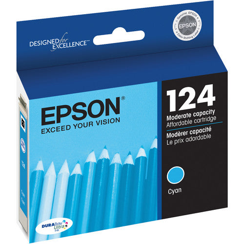 Epson® – Cartouche d'encre 124 cyan rendement standard (T124220) - S.O.S Cartouches inc.