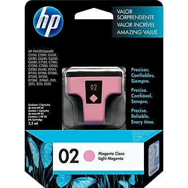 HP® – Cartouche d'encre 02 magenta claire rendement standard (C8775WN) - S.O.S Cartouches inc.
