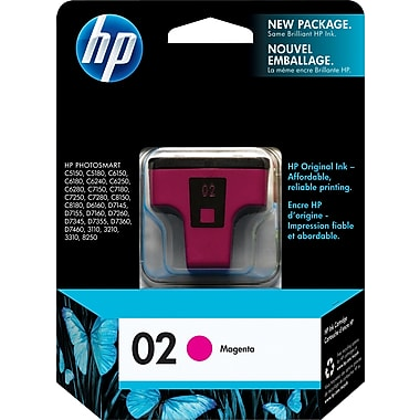 HP® – Cartouche d'encre 02 magenta rendement standard (C8772WN) - S.O.S Cartouches inc.