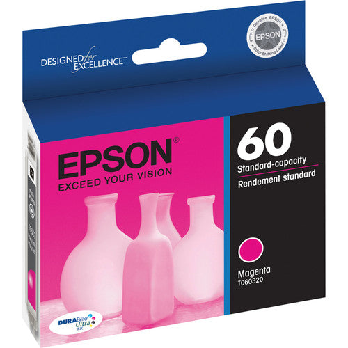 Epson® – Cartouche d'encre 60 magenta rendement standard (T060320) - S.O.S Cartouches inc.