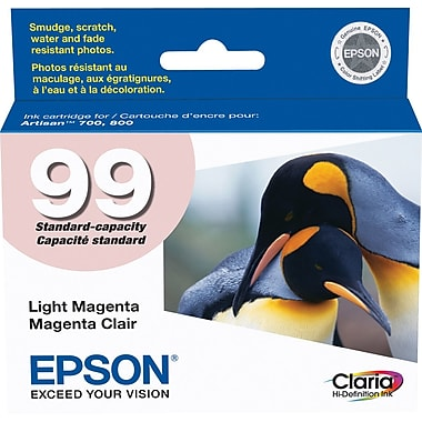 Epson® – Cartouche d'encre 99 magenta claire rendement standard (T099620) - S.O.S Cartouches inc.