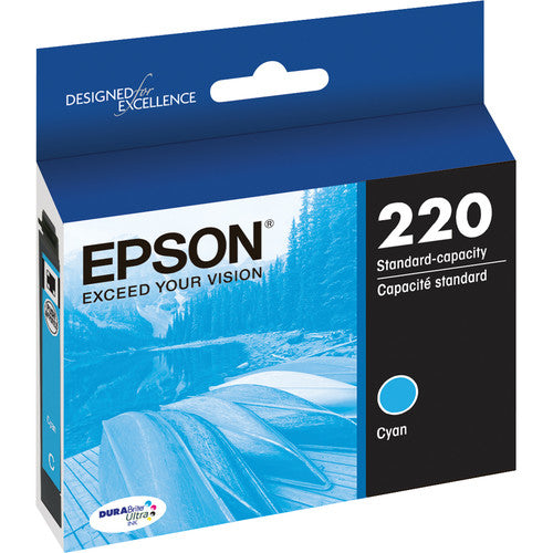 Epson® – Cartouche d'encre 220 cyan rendement standard (T220220) - S.O.S Cartouches inc.