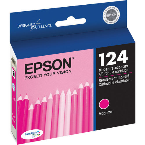 Epson® – Cartouche d'encre 124 magenta rendement standard (T124320) - S.O.S Cartouches inc.