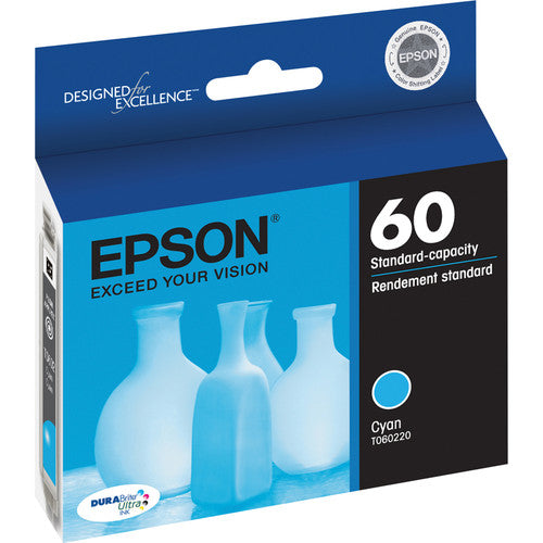 Epson® – Cartouche d'encre 60 cyan rendement standard (T060220) - S.O.S Cartouches inc.