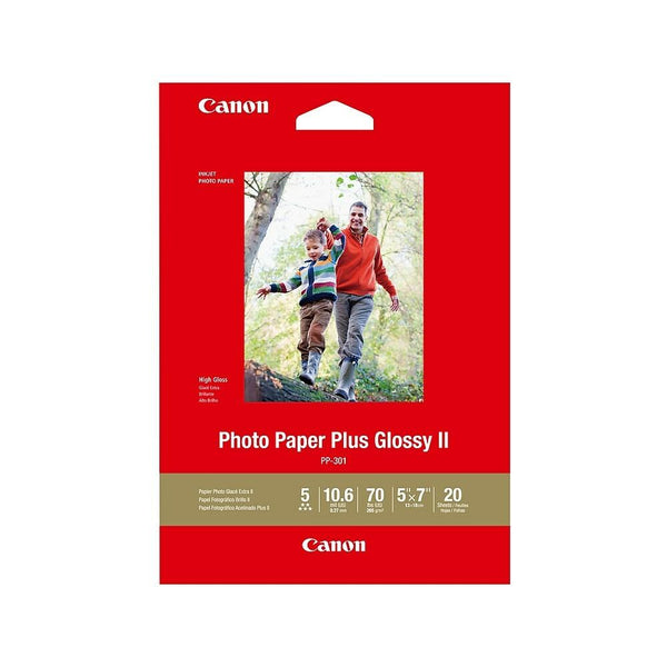 "Canon - PP-301 Plus II Glossy Photo Paper, 5"" x 7"", pkg/20 sheets (1432C002)"