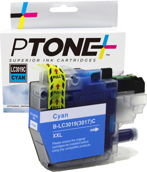 Brother LC3019 cartouche d'encre cyan produit ptone® compatible avec brother-1/paquet. - S.O.S Cartouches inc.