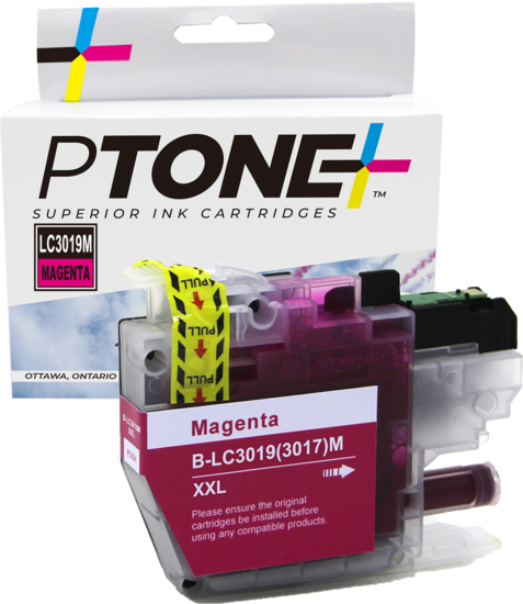Brother LC3019 cartouche d'encre magenta produit ptone® compatible avec brother-1/paquet. - S.O.S Cartouches inc.
