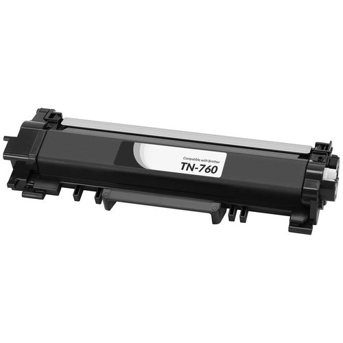 Brother TN760 cartouche toner noire version à haut rendement de TN730 produit pearltone® compatible avec brother-1/paquet. - S.O.S Cartouches inc.