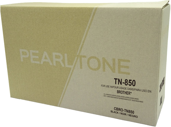 Brother TN850 cartouche toner noire version à haut rendement de TN820 produit pearltone® compatible avec brother-1/paquet. - S.O.S Cartouches inc.