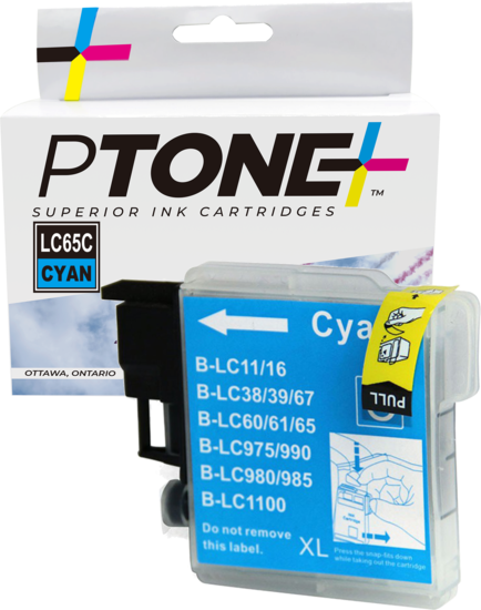Brother LC61 cartouche d'encre cyan produit ptone® compatible avec brother-1/paquet. - S.O.S Cartouches inc.