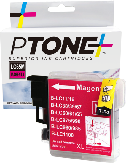 Brother LC61 cartouche d'encre magenta produit ptone® compatible avec brother-1/paquet. - S.O.S Cartouches inc.