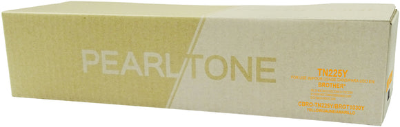 Brother TN225 cartouche toner jaune version à haut rendement de TN221 produit pearltone® compatible avec brother-1/paquet. - S.O.S Cartouches inc.