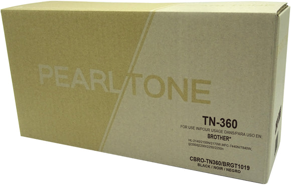 Brother TN360 cartouche toner noire version à haut rendement de TN330 produit pearltone® compatible avec brother-1/paquet. - S.O.S Cartouches inc.